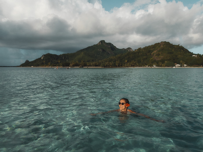 Swimming in Maupiti lagoon by Dancing the Earth