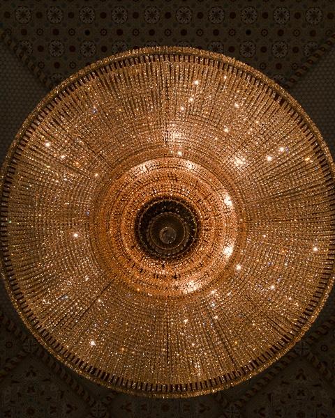 Abu Dhabi Qsar al Watan candelabre by Dancing the Earth
