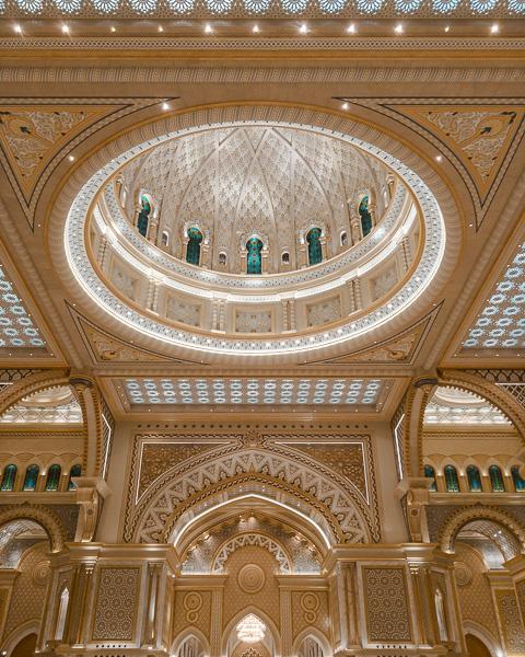 Abu Dhabi Qsar al Watan central dome by Dancing the Earth