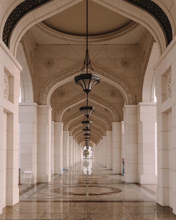Abu Dhabi Qsar al Watan entrance's archs by Dancing the Earth