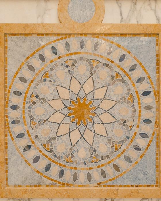 Abu Dhabi Qsar al Watan tiles detail by Dancing the Earth