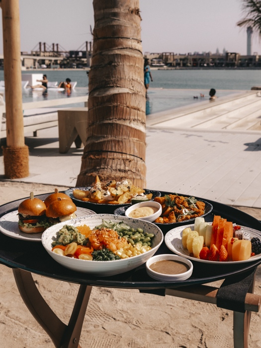 Atlantis the Palm White Beach lunch by Dancing the Earth