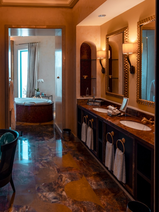 Atlantis the Palm suites bathroom corridor by Dancing the Earth