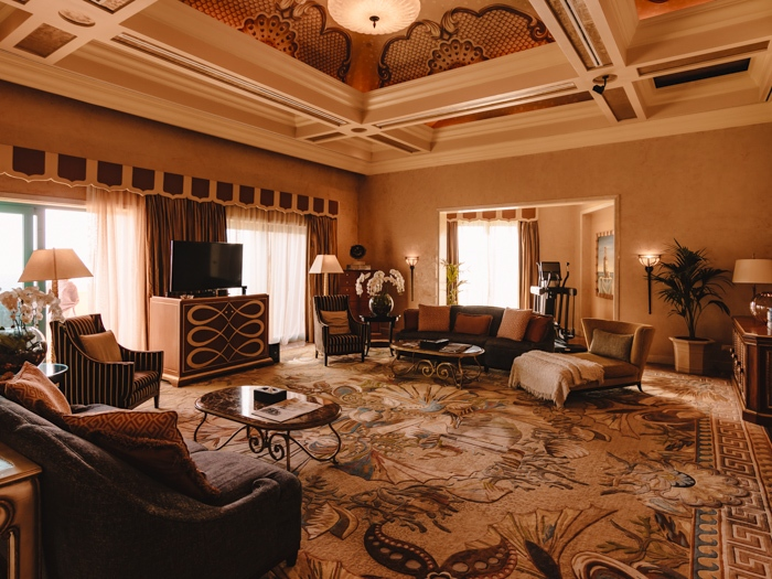 Atlantis the Palm suites living room by Dancing the Earth