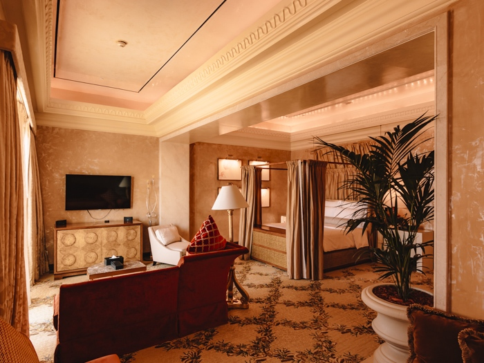 Atlantis the Palm suites queen bedroom by Dancing the Earth
