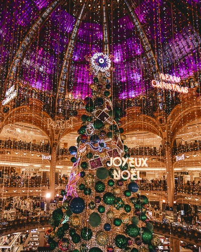 Christmas in Paris Christmas tree in Galeries Lafayette in 2018by Dancing the Earth