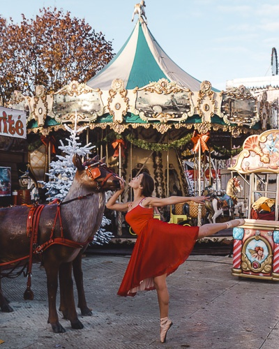 Christmas in Paris reindeer at Tuileries garden by Dancing the Earth