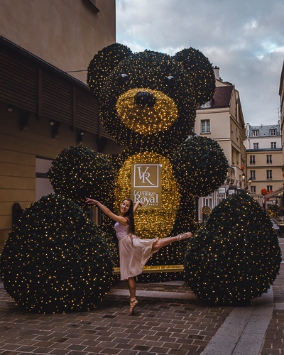 Christmas in Paris Christmas bear of Village Royal by Dancing the Earth