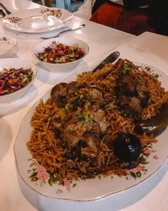 Dubai Arabian tea house main dish by Dancing the Earth