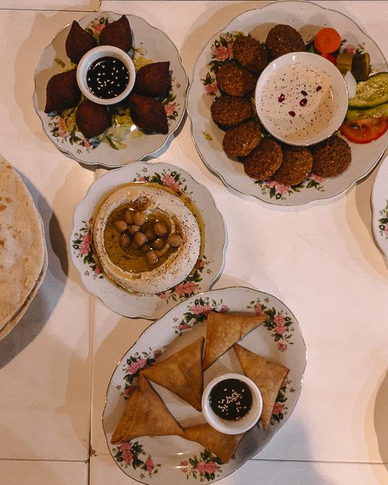 Dubai Arabian tea house appetizers by Dancing the Earth