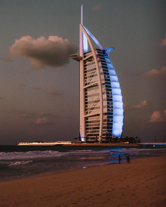 Dubai Burj al Arab by Dancing the Earth