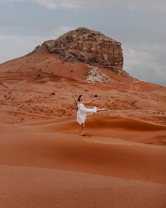 Dancing in Dubai desert by Dancing the Earth