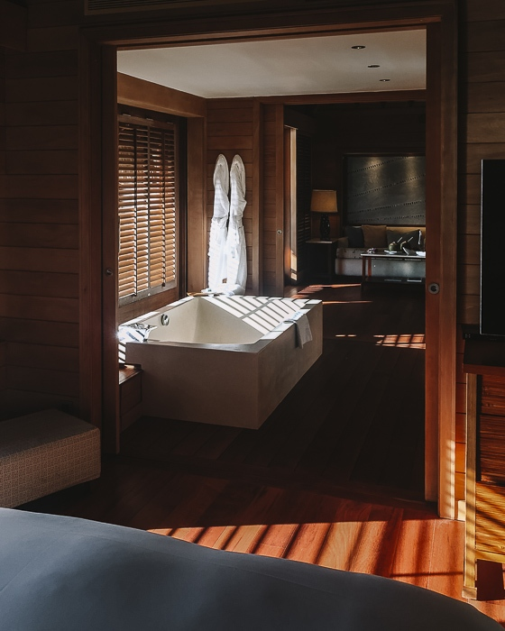 Four Seasons Bora Bora suites bathroom by Dancing the Earth
