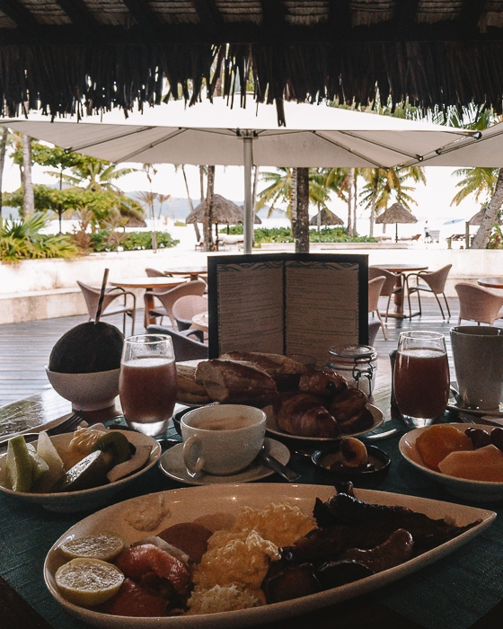 Four Seasons Bora Bora breakfast menu by Dancing the Earth