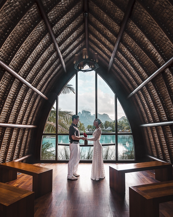 Four Seasons Bora Bora church by Dancing the earth