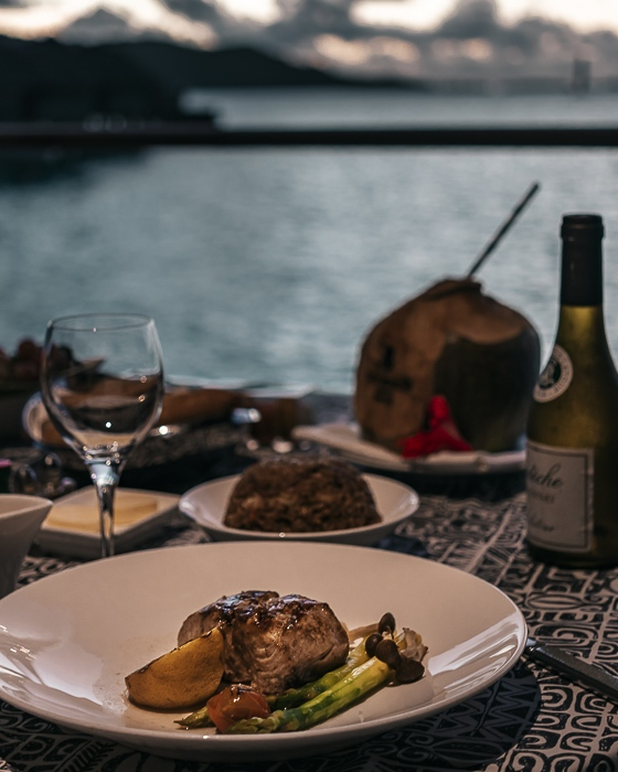 Four Seasons Bora Bora dinner vanilla mahi mahi by Dancing the Earth
