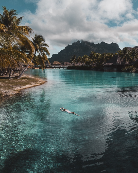 Four Seasons Bora Bora floating in the lagoon Four Seasons Bora Bora lagoon sanctuary biorock structure by Dancing the Earth