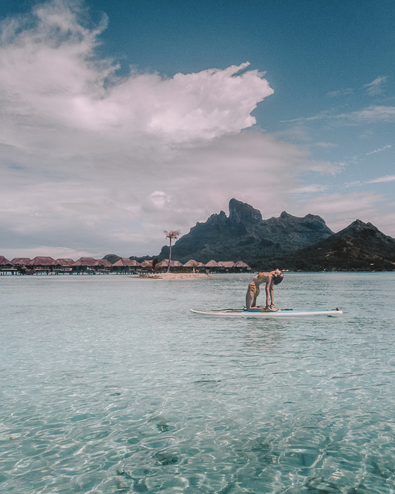 Four Seasons Bora Bora paddle on the lagoon by Dancing the earth