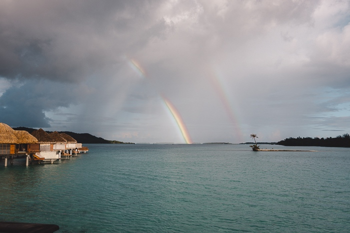 Bora Bora rainbow over the lagoon by Dancing the earth