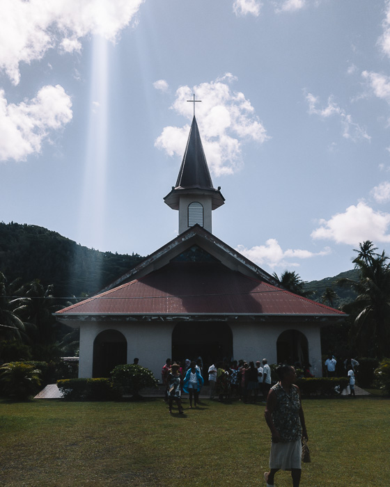 French Polynesia travel log Huahine church by Dancing the Earth