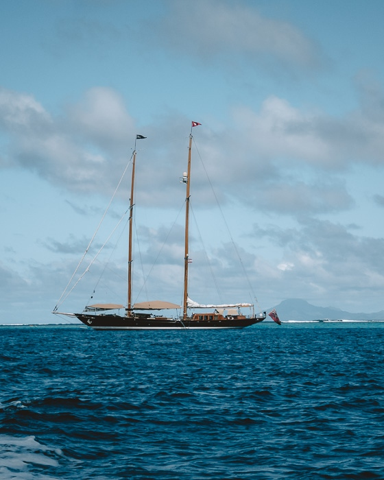 Sailboat in Huahine by Dancing the Earth