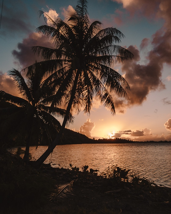 Sunset in Huahine by Dancing the Earth