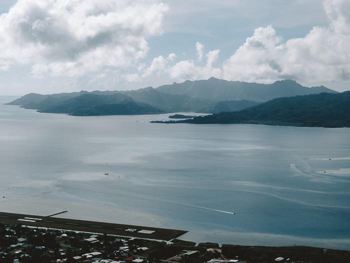 Taha'a view from Mount Tapioi in Raiatea by Dancing the Earth