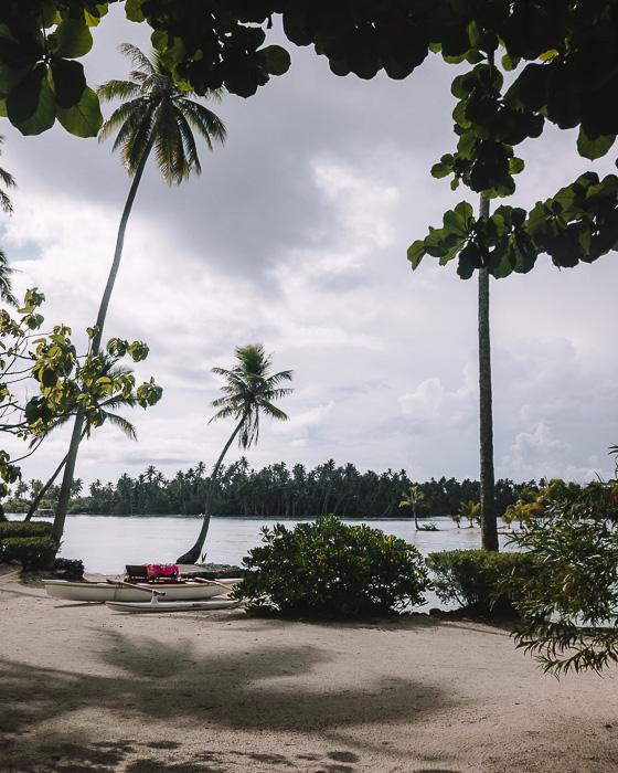 Taha'a Island resort and spa beach by Dancing the Earth