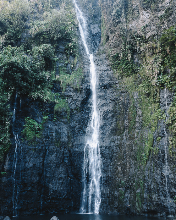 Vaimahutu falls from Faarumai waterfalls in Tahiti by Dancing the Earth