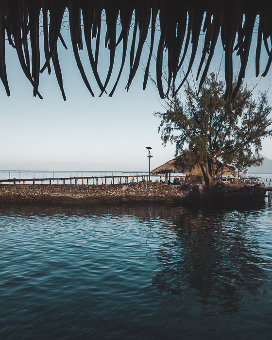 Tahiti lagoon and a hut in Papeete by Dancing the earth