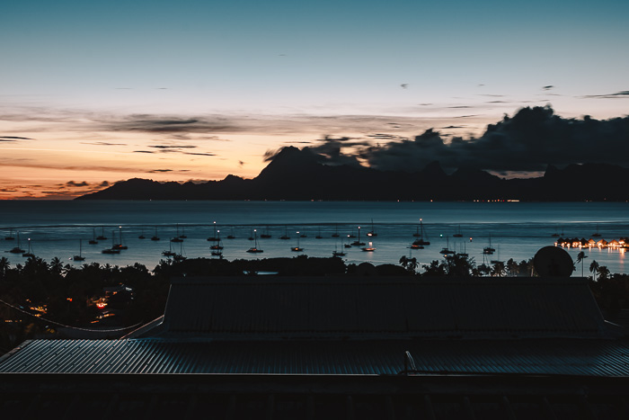 French Polynesia travel guide sunset over Moorea from Tahiti island by Dancing the Earth