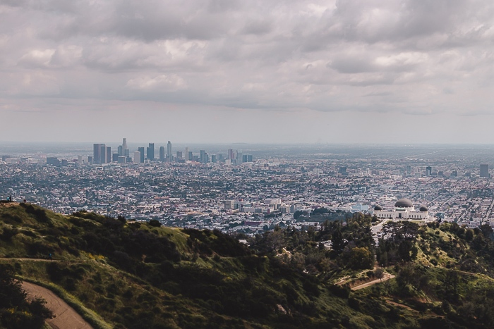 Los Angeles view over LA from Griffith Park by Dancing the Earth