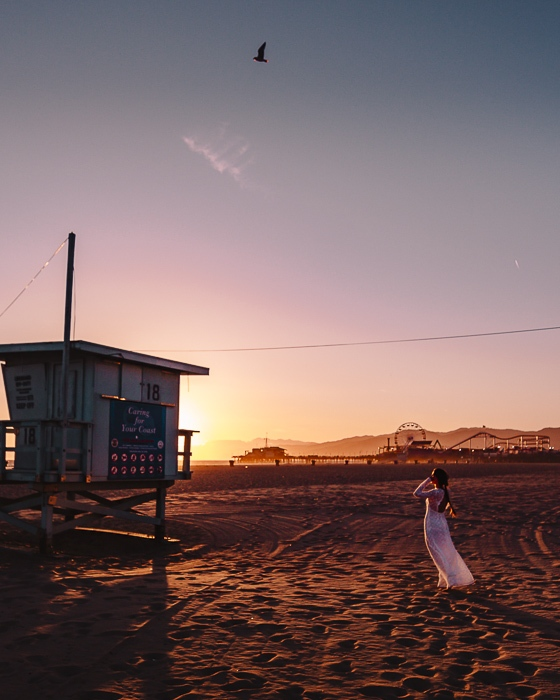 Los Angeles sunset in Santa Monica by Dancing the Earth