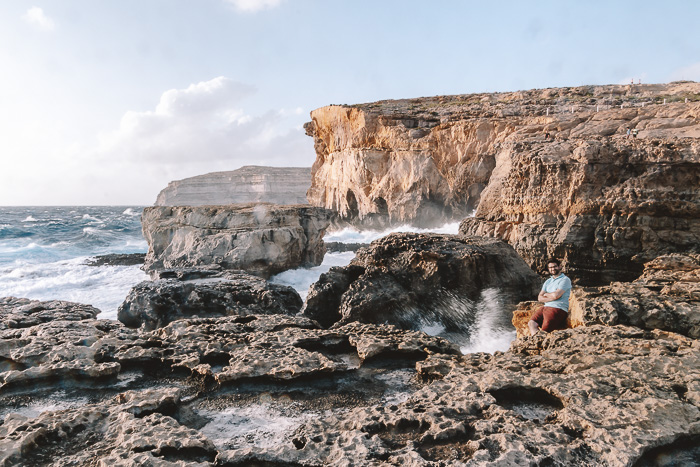 Collapsed azure window of Gozo by Dancing the Earth