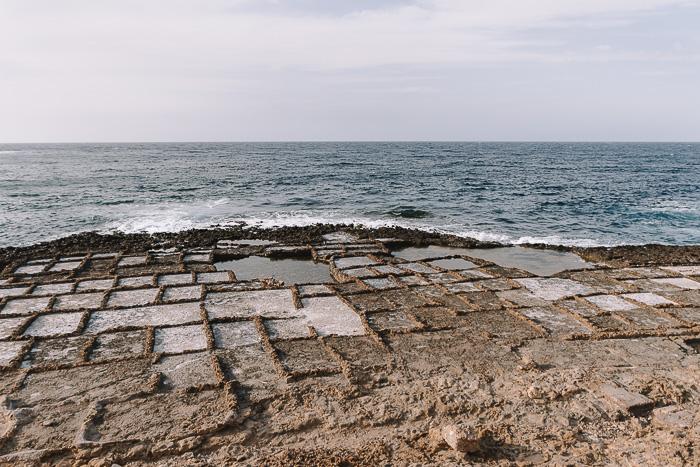 Gozo island Ghajn Barrani salt pans by Dancing the Earth