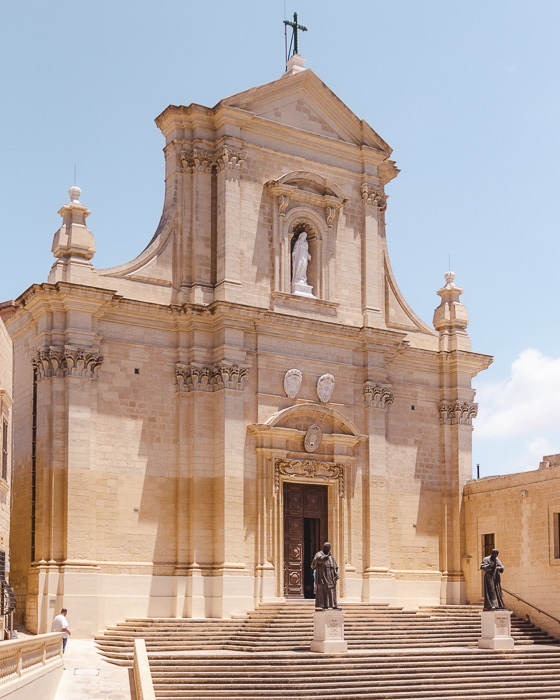 Malta travel guide Gozo island The Cittadella Cathedral by Dancing the Earth