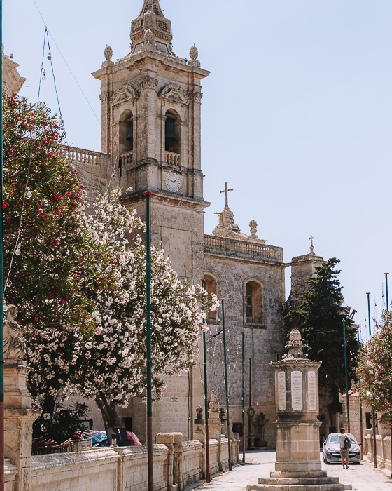 Malta travel guide Ir-Rabat St Paul Cathedral from behind by Dancing the Earth