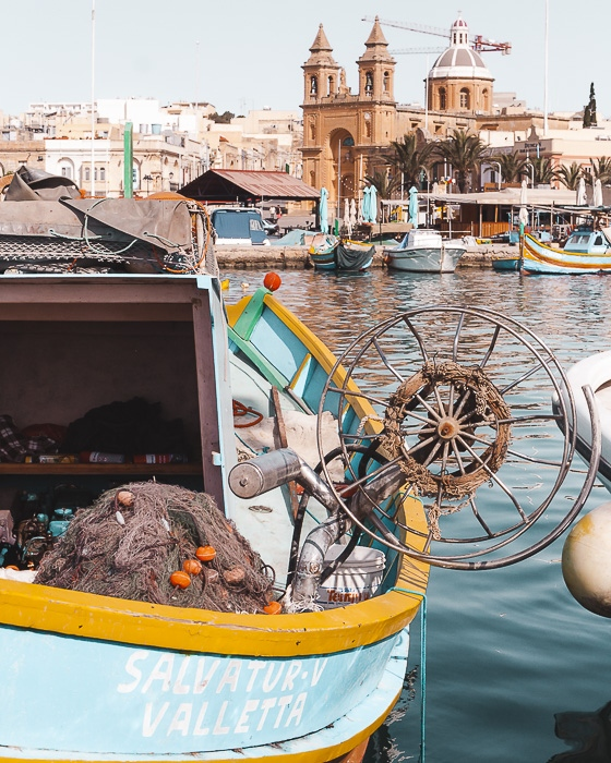 Marsaxlokk fishing boat by Dancing the Earth