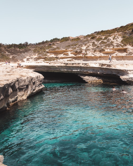 Malta travel guide St Peter's Pool by Dancing the Earth