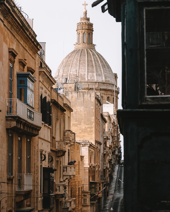 Valletta St John's Co-Cathedral from the street by Dancing the Earth