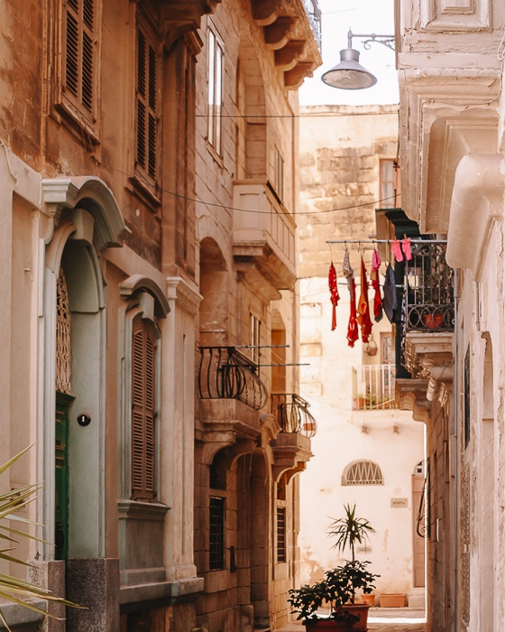 Malta travel guide Vallettra street by Dancing the Earth