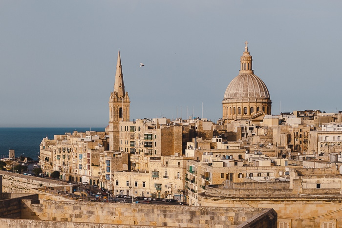 Malta travel guide Valletta view from the ramparts by Dancing the Earth