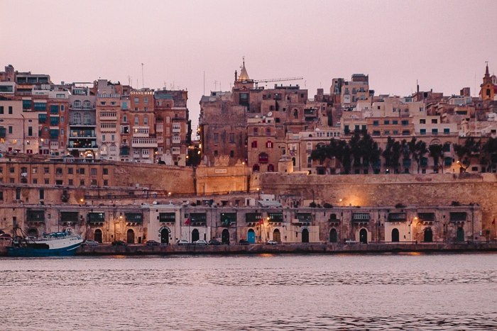 Malta travel guide Valletta waterfront by night by Dancing the Earth