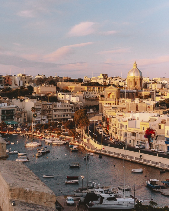 Sunset from Vittoriosa by Dancing the Earth