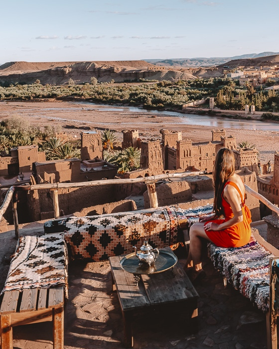 Morocco travel guide Ait Ben Haddou from the cafe uphill by Dancing the Earth