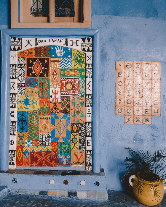 Alphabet wall in Chefchaouen by Dancing the Earth