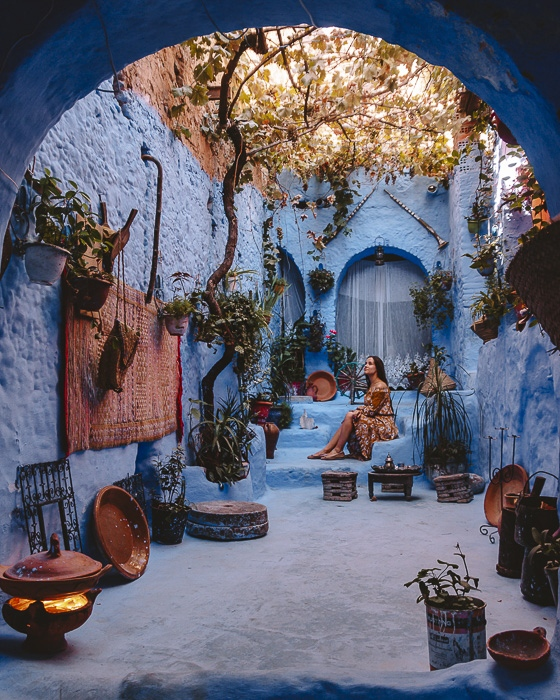 Morocco travel guide Chefchaouen house by Dancing the Earth
