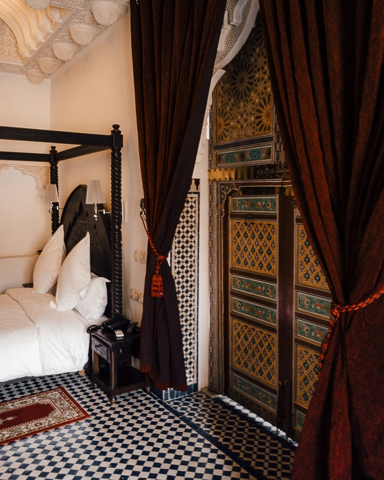 Morocco travel guide Riad Fes Bab Rcif room door by Dancing the Earth