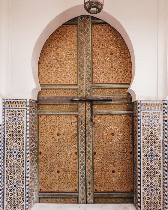 Mosque's door in Fez medina by Dancing the Earth