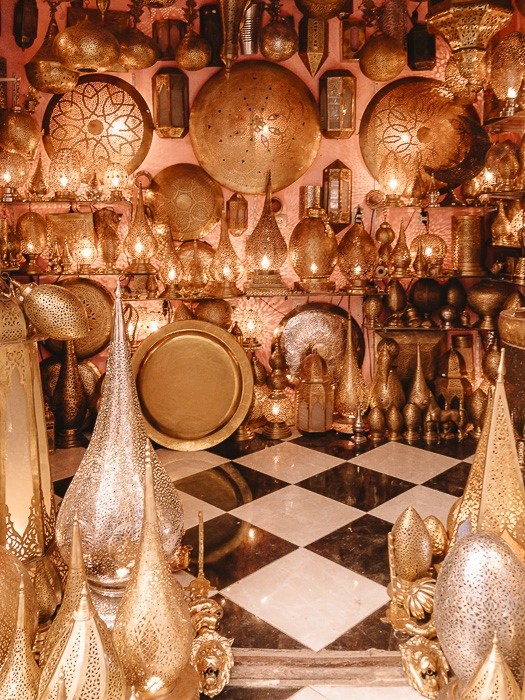 Morocco travel guide Fez medina lamp shop by Dancing the Earth